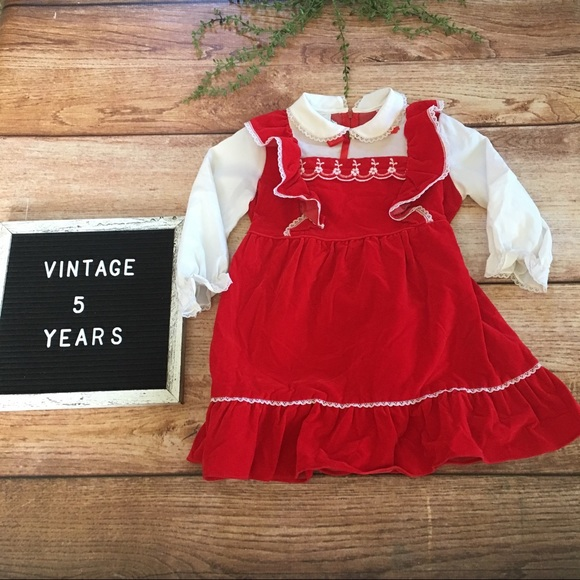 Sears Other - Vintage Sears Girls Red Holiday Dress 5 Years